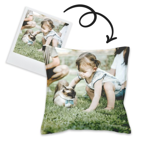 Cushion with pet photo