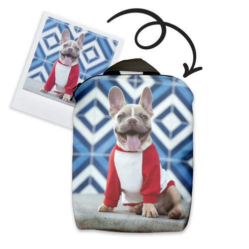 Backpack with pet photo