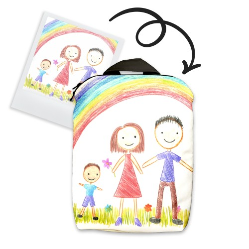 Backpack with children painting