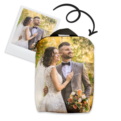 Backpack with celebration photos