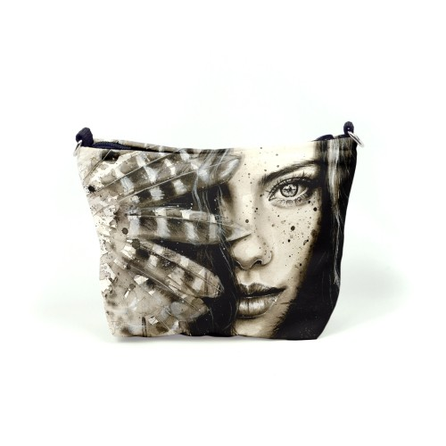 """Cosmetic bag """"Girl with a Feather"""" CB85267"""