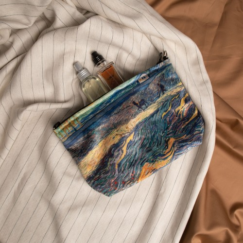 """Cosmetic Bag Vincent van Gogh """"Field with Plowing Farmers"""" CB77778"""