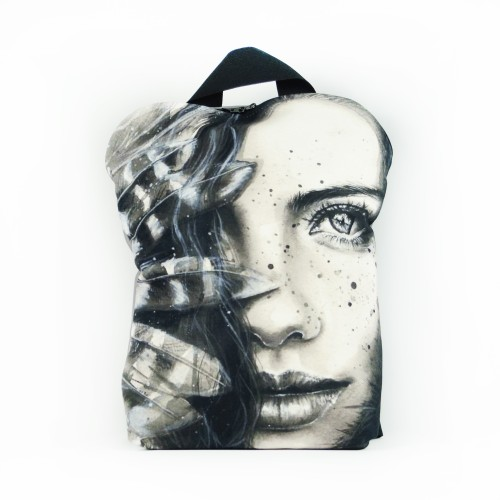 """Backpack """"Girl with a Feather"""" BP85267"""
