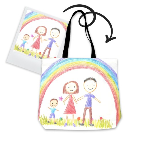 Personalized Tote Bag with children's drawings
