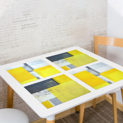 """Table placemat set """"Yellow"""""""