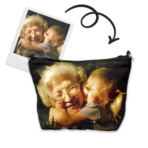 Custom cosmetic bag with your family photo