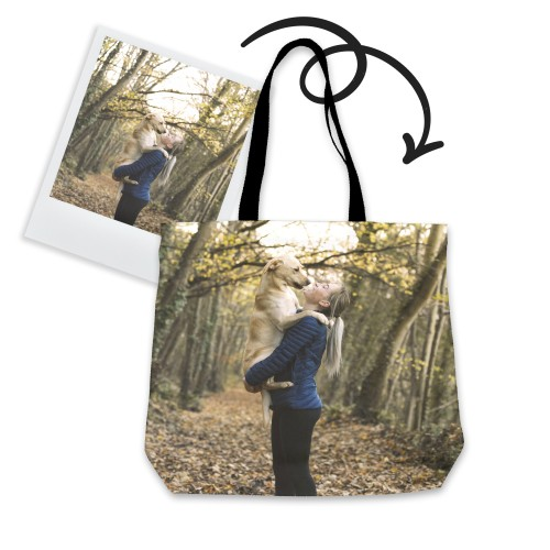 Personalized Tote Bag with Your Pet Photo