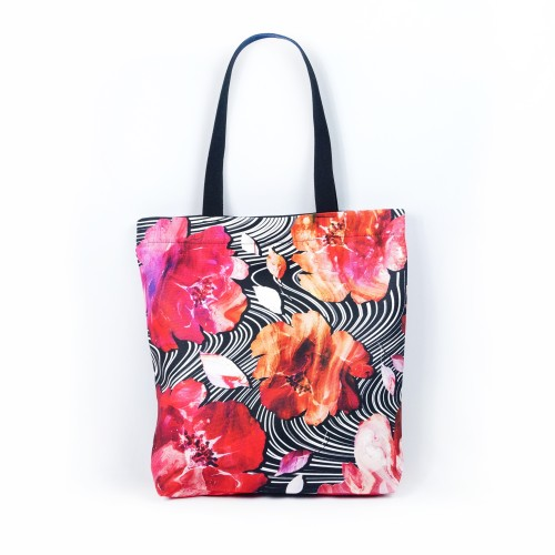 """Tote Bag """"Blooming Fire"""" TBE102"""
