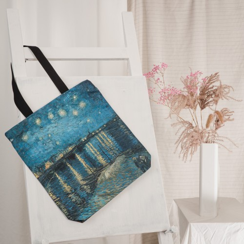 """Tote Bag Vincent van Gogh """"Starry Night Over the Rhone"""" TB01139"""